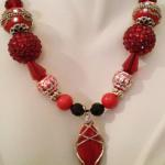 Red Sponge Coral Wrap - $75