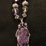 Purple Murple - $85 Large purple charoite cabochon wrapped in sterling silver