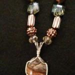 Stormy Weather - $80 Biggs Jasper cabochon wrapped in sterling silver